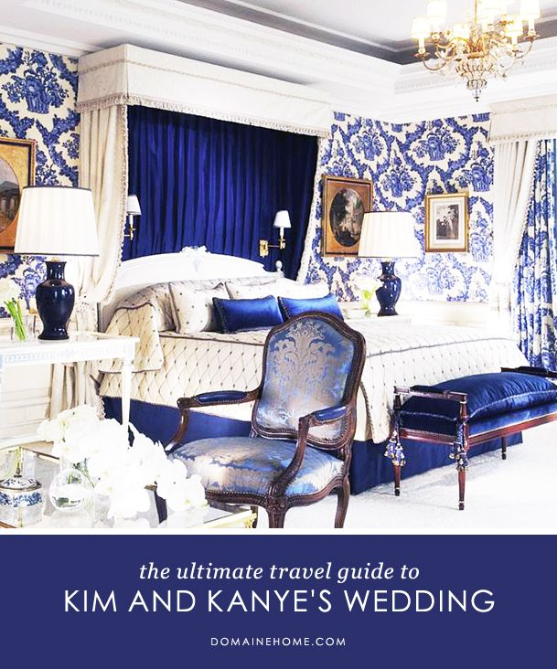The Ultimate Luxury Travel Guide to Kim and Kanye's WeddingDecor, Colors Obsession, Interiors Inspiration, Kanye West, Interiors Matter, Ads Ideas, Celebrities Spaces, Europe Travel, Blue And White