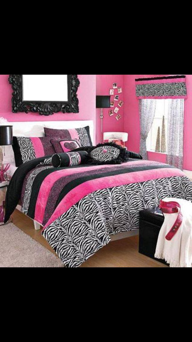 Pin by aquanisha moore on girls stuff pinterest for Zebra room decor walmart