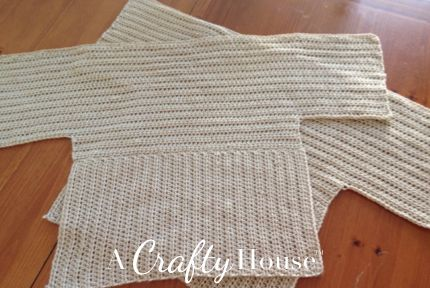 A Crafty House | Knit and Crochet Patterns and Accessories: Free Dolman Sleeve Crochet Sweater Pattern