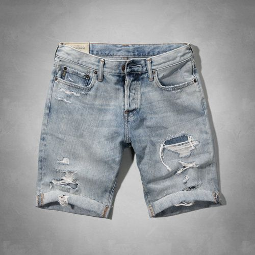 Destroyed denim shorts mens – Global fashion jeans collection