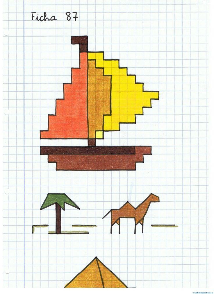 Оригами рисунок по клеточкам, картинках
