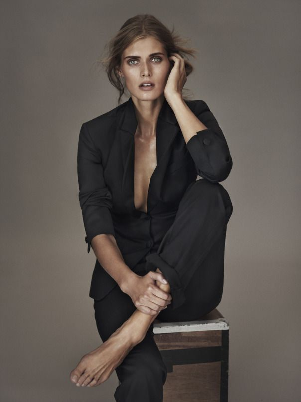 Malgosia Bela by Josh Olins for Vogue UK December 2009. Looking pretty in black.