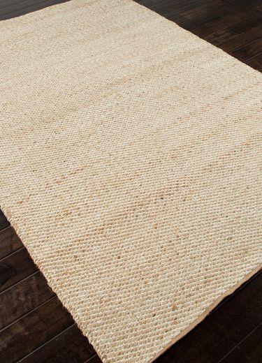 JAIPUR AD10 Rustica rug, color Cream.  20% polyester 80% jute.  8X10