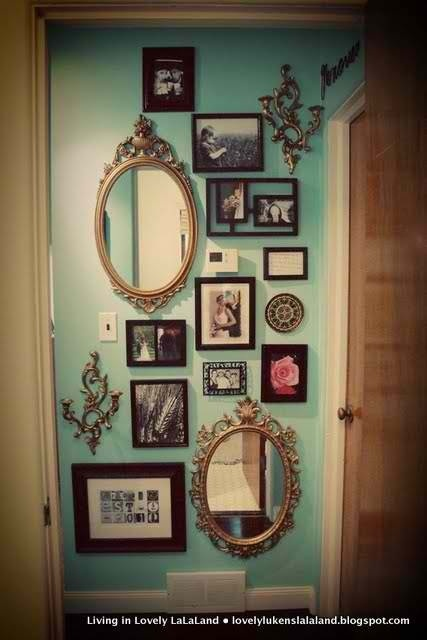 Love the oval mirrors! Never thought of the ornate oval mirror--- I was going more for the standard square/rectangular ornate mirror