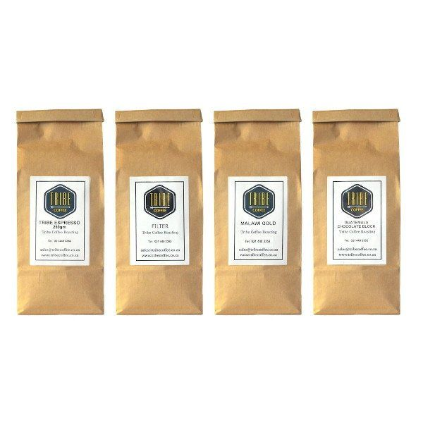 Buy this bundle of the classic coffees that have put Tribe on the Cape Town coffee map including Guatemala Chocolate Block, Malawi Gold & their blends