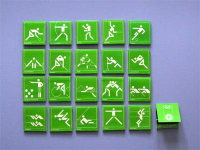 Otl Aicher   |  1972 Munich Olympics  | Matchbook set