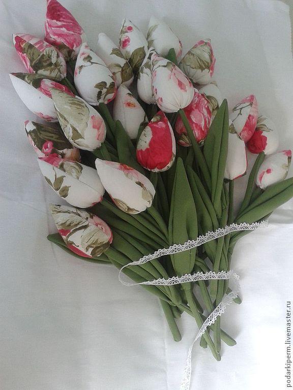 Купить Шебби -букет - букет, шеббби, шебби-шик, тюльпаны, цветы из ткани, подарок маме