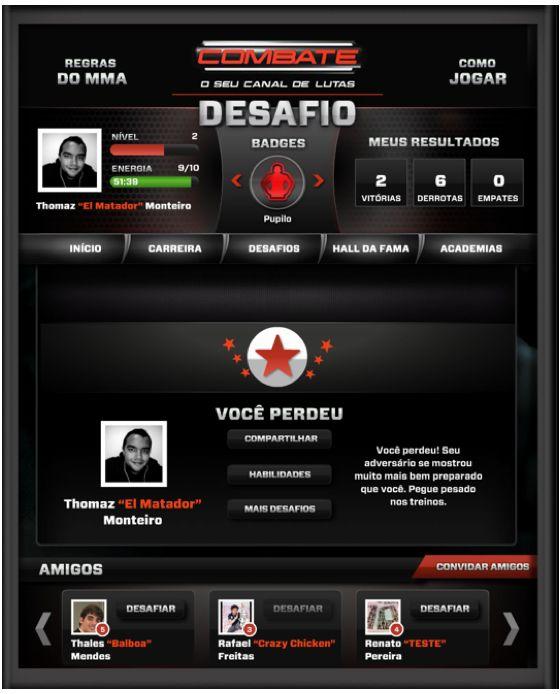 Game Canal Combate - Trabalho desenvolvido para a Globosat