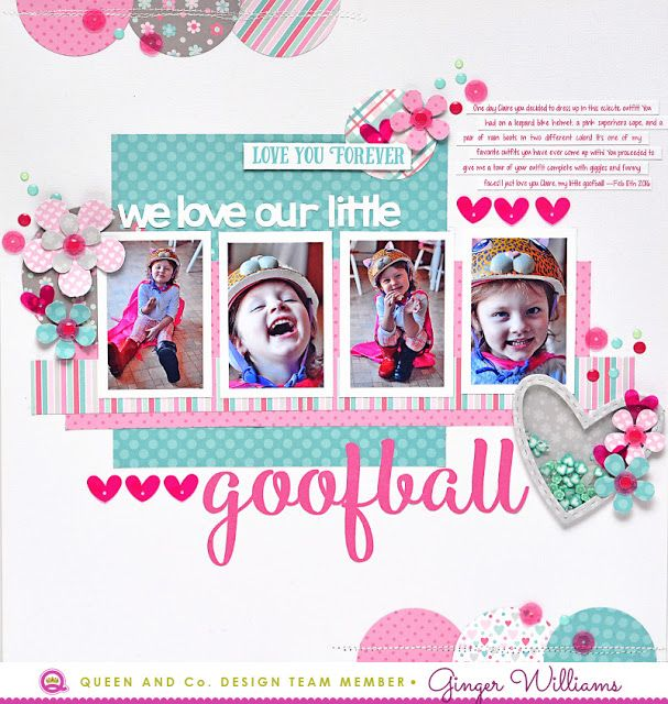 Ginger Williams: Creating A Layout With Patterned Papers I Designed