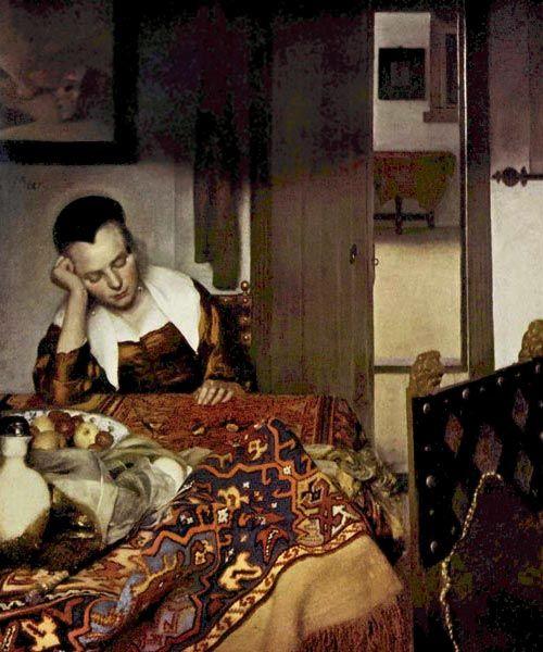 Картинки по запросу вермеер спящая девушка