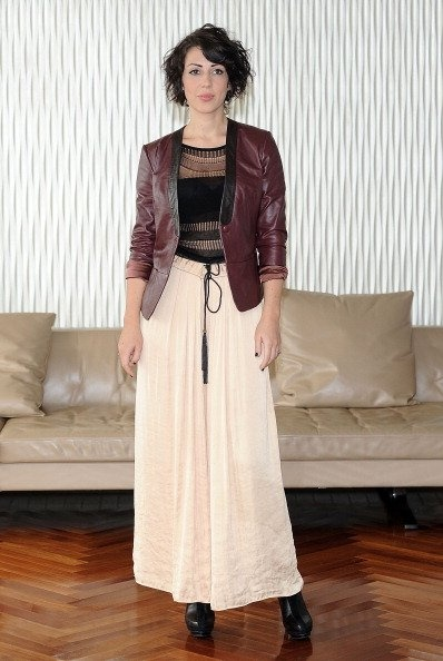 leather jacket and maxi skirt, what do you think?