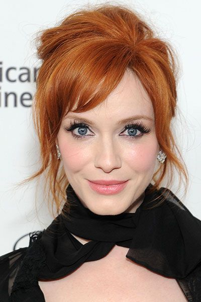 Christina Hendricks's vivid red