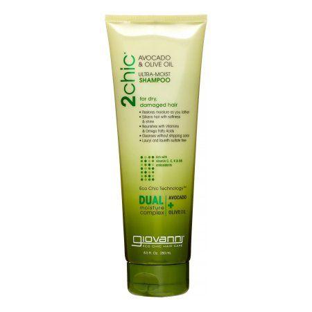 Giovanni 2Chic Ultra-Moist Shampoo Avocado & Olive Oil, 8.5 OZ, Multicolor