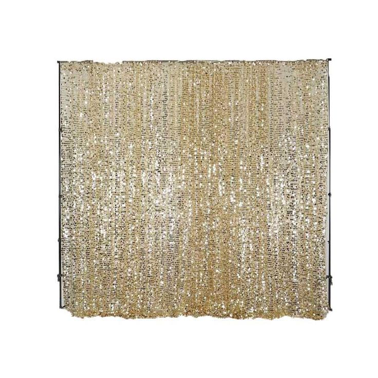 20FT Champagne Big Payette Sequin Curtain Panel Backdrop Wedding Party Photography Background - 1 PCS | TableclothsFactory.com – tableclothsfactory.com