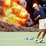 'Man's gotta relax': What Obama missed while he played another round of golf PLUS nine holes more