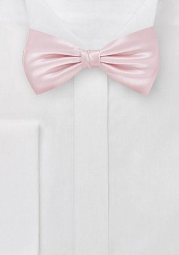 Herrenschleife einfarbig rose italienische Seide