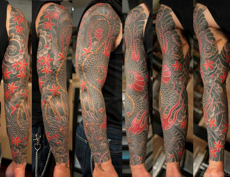 Japanese dragon sleeve | Tattoo - Oriental | Pinterest