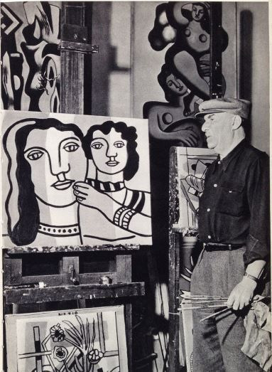 Fernand Leger in his studio