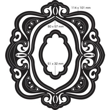 Couture Creations - Nesting Dies - Fleur-de Frame | Happy Crafting | Blitsy