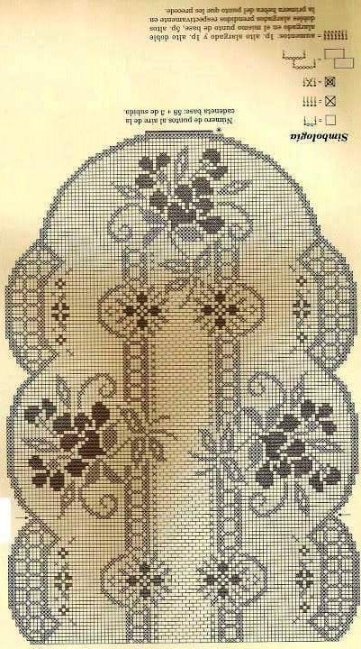 World crochet: Tablecloth 229