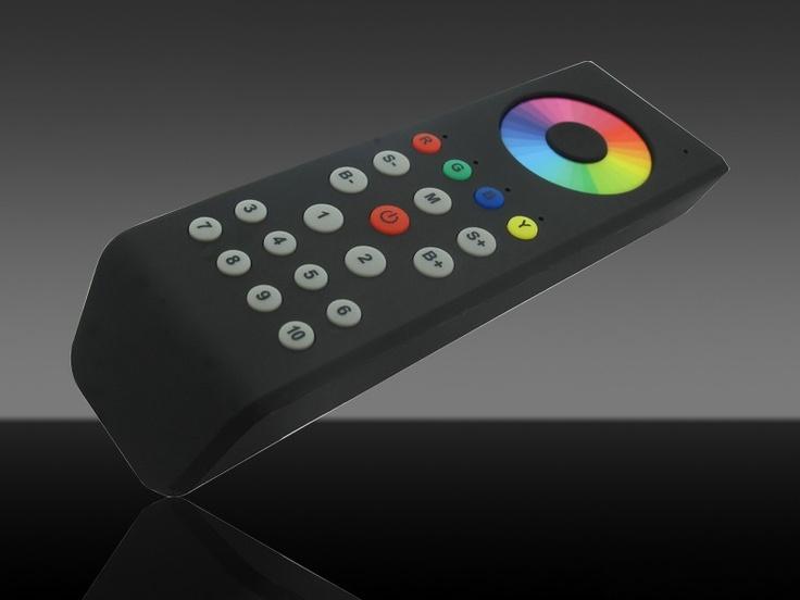10 zonne RGB+W afstandsbediening voor aansturing van 10 controller groepen