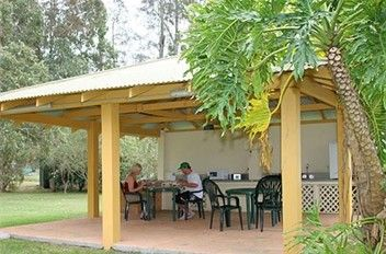 BBQ and Camp Kitchen facilities at BIG4 Karuah Jetty Caravan Park