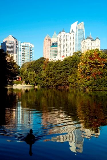 It's hard to beat the beauty of Piedmont Park in early October