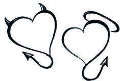 Teufel & Heiligen Herzen Tattoos