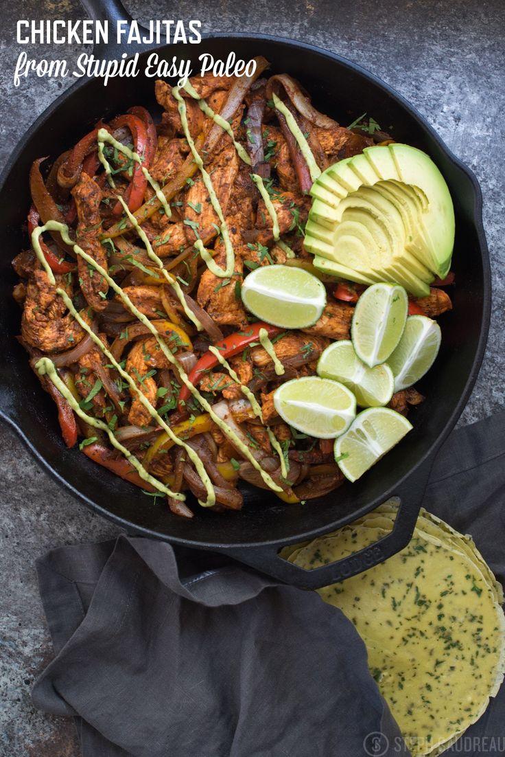 Chicken Fajitas Recipe | stupideasypaleo.com