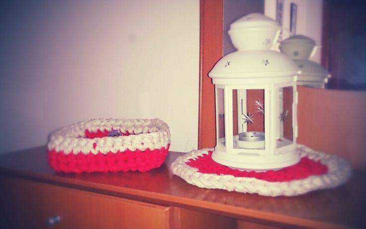Tapete y vacía bolsillos crochet