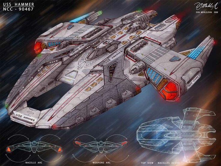Star Trek USS Hammer Concept   #startrek #LLAP #kurttasche