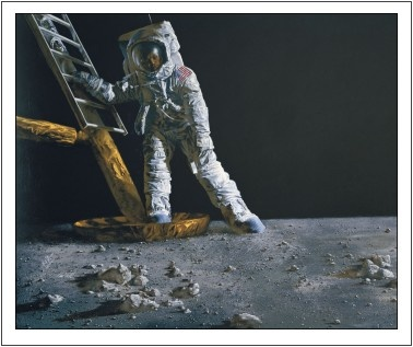 neil armstrong stepping on the moon - photo #2