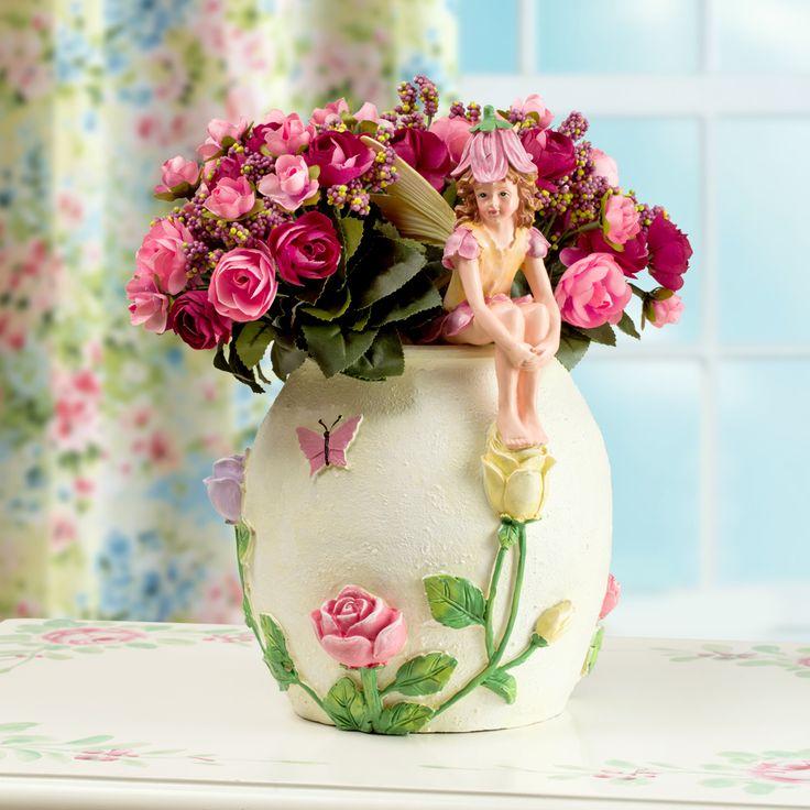 Купить Творческий цветочная фея сидит на цветочный горшок ваза с искусственным цветком смолы фея ваза для украшения дома украшенияи другие товары категории Вазыв магазине Shop1739509 StoreнаAliExpress. вазы для домашнего декора и творческие вазы