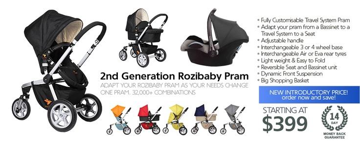 Rozibaby Travel System Pram | Baby Stroller, Baby Jogger, Baby Buggy, Prams, Baby Pram, Prams Online, Baby Prams Online