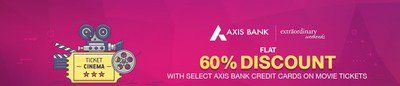 BookMyShow  AxisBank Extraordinary weekends offer  Flat 60% discount on on Sachin Movie Tickets