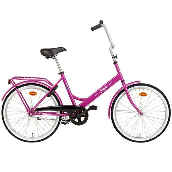 Fuchsia Jopo bicycle by Helkama.