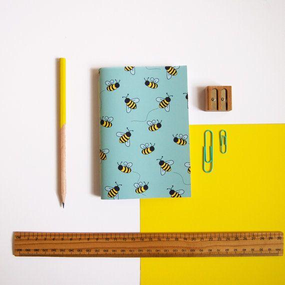 A6 Notebook / Bee Notebook / Pocket Notebook / Cute Stationery