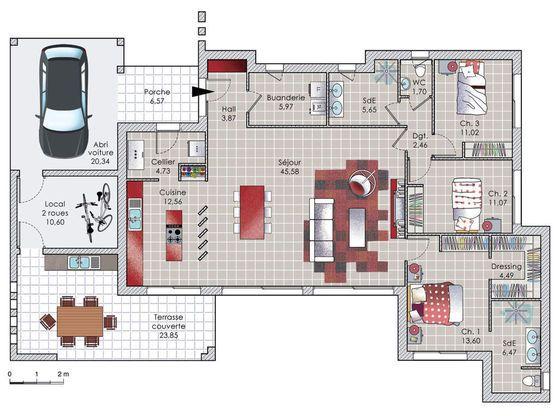 Modèle de maison Tilla – . Retrouvez tous les types de maison à vendre en France sur Faire Construire Sa Maison