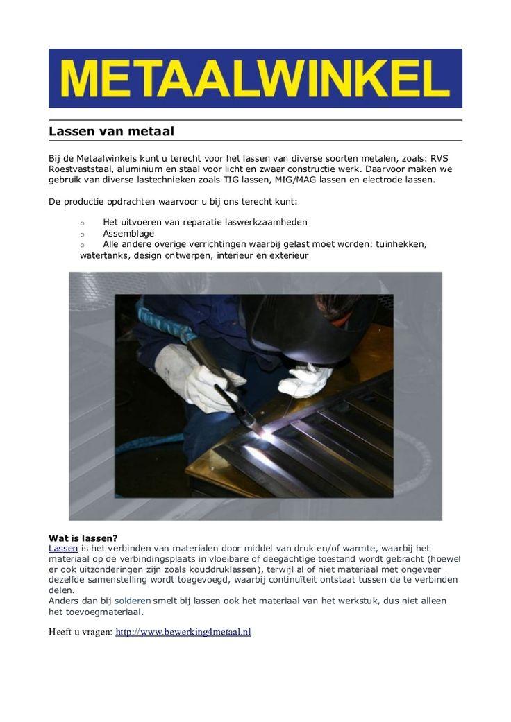 lassen by Metaalwinkel via Slideshare