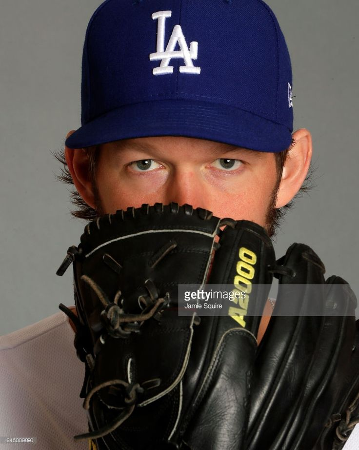 Clayton Kershaw #22 of the Los Angeles Dodgers poses on Los Angeles Dodgers Photo Day during Sprint Training on February 24, 2017 in Glendale, Arizona.