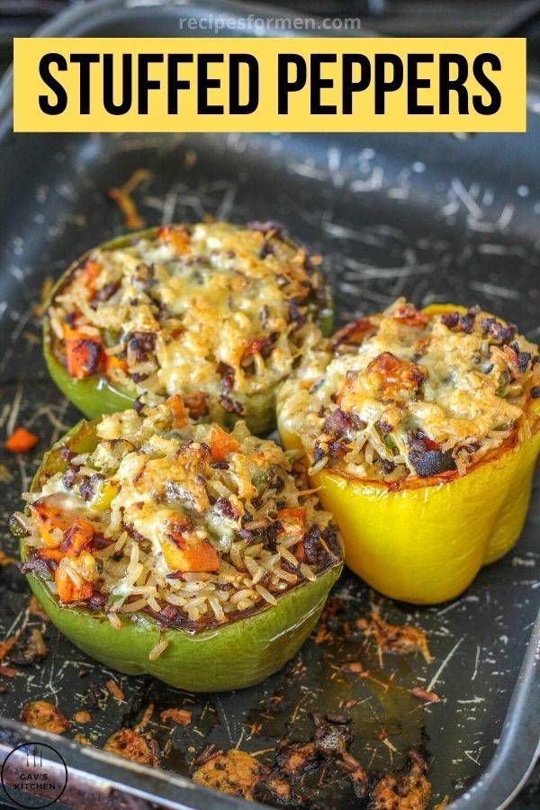 Stuffed Bell Peppers With Rice Easy And Quick To Make Healthy Food In 2020 Stuffed Peppers Stuffed Bell Peppers Healthy Eating Recipes