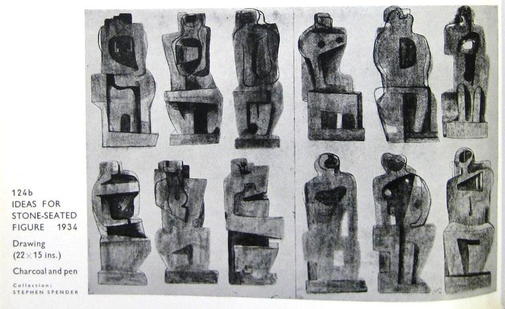 henry moore sculptures process - Google Search