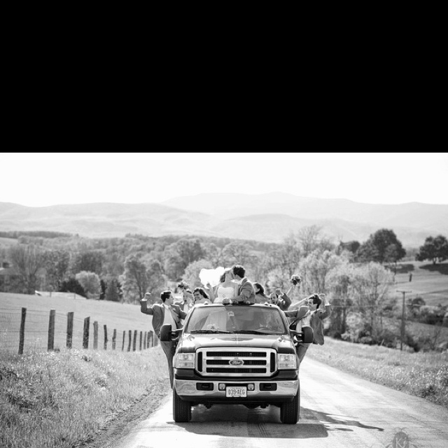 Best wedding party picture ever....A 7 Inch lift would be superb and a Chevy!!!