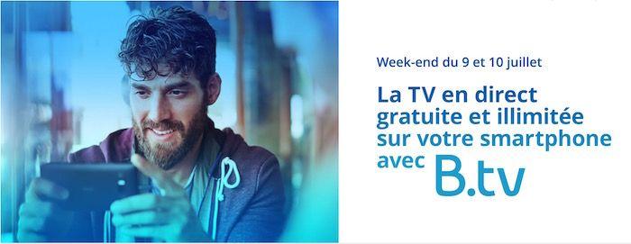 Bon plan : Bouygues Telecom offre la télévision en illimité ce week-end sur mobile