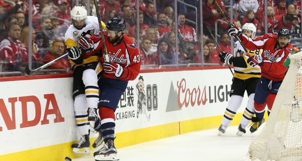 Washington, the owner of the NHL�s best regular-season record, faces elimination for the second time Monday.