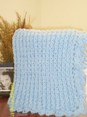 how to make a baby blanket with a rectangular loom