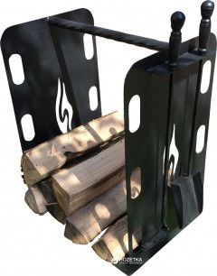Стойка для дров UaStal Hi-Tech Черная