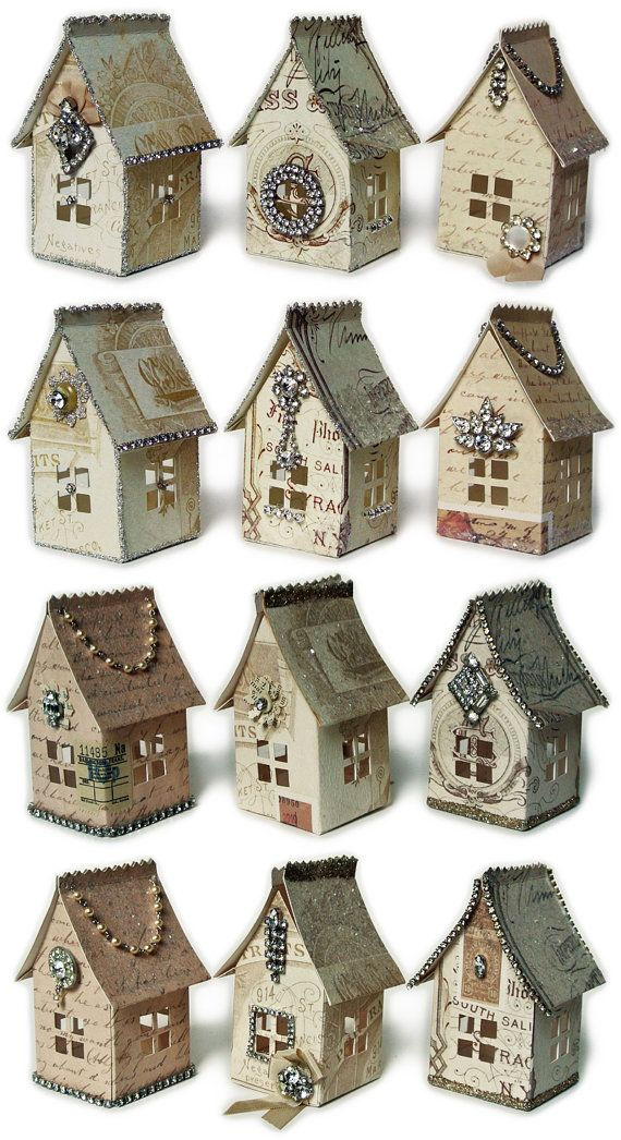 Miniature Printables - Paper House Luminaries Printable Template, Graphics, and Instructions