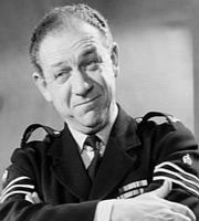 Carry On, Constable. Sgt. Frank Wilkins (Sidney James). Image credit: Peter Rogers Productions.