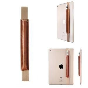 Slim PU Leather Pencil Stylus Pen Holder Sleeve Protective Case with Elastic Band for iPad Pro